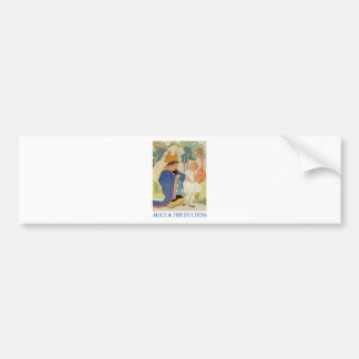 Alice and the Duchess play Flamingo Croquet Bumper Sticker