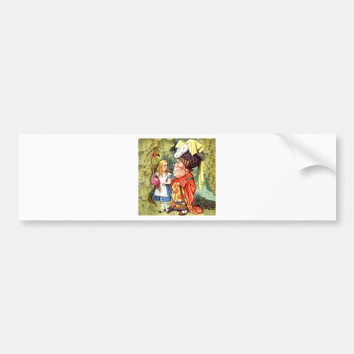 Alice and the Duchess Play Flamingo Croquet Bumper Stickers
