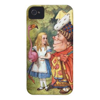 Alice and the Duchess Play Flamingo Croquet iPhone 4 Case-Mate Cases