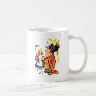 Alice and The Duchess Play Flamingo Croquet Coffee Mug