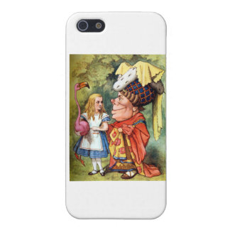 Alice and the Duchess Play Flamingo Croquet Case For iPhone 5