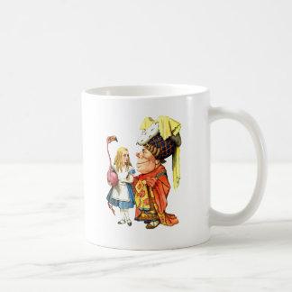 Alice and The Duchess Play Flamingo Croquet Mug