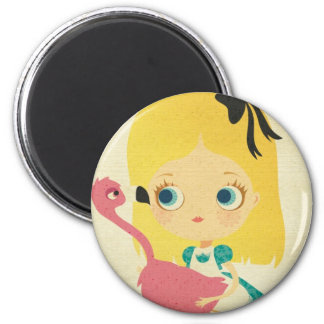 Alice and the Flamingo magnet