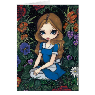 """Alice and the Flowers"" Greeting Card"