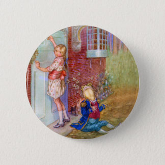 Alice and The Frog Footman At The Duchess' Doorway 6 Cm Round Badge