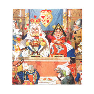 Alice and The Knave of Hearts Trial in Wonderland Notepads