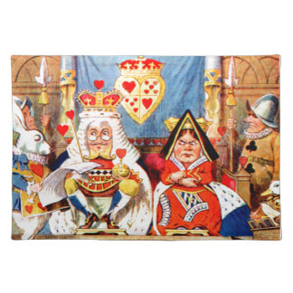 Alice and The Knave of Hearts Trial in Wonderland Placemat