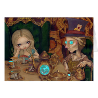 """Alice and the Mad Hatter"" Greeting Card"