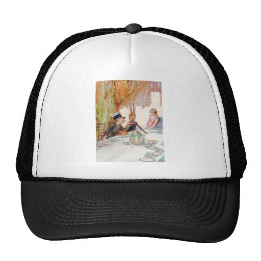 Alice and the Mad Hatter's Tea Party Trucker Hats