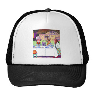 Alice and the Mad Hatter's Tea Party Mesh Hats