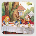 Alice and the Mad Hatter's Tea Party in Wonderland