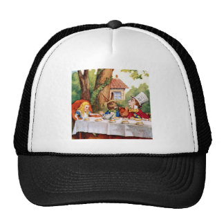 Alice and the Mad Hatter's Tea Party in Wonderland Cap