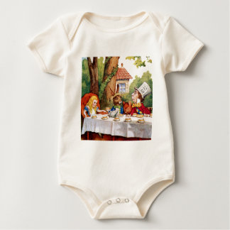 Alice and the Mad Hatter's Tea Party in Wonderland Romper