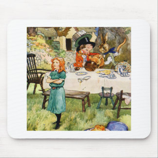 Alice and the Mad Hatter's Tea Party Mouse Pad