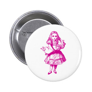 Alice and the Pig Baby Pink Pinback Buttons
