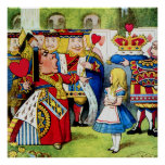 Alice and the Queen of Hearts in Wonderland Poster