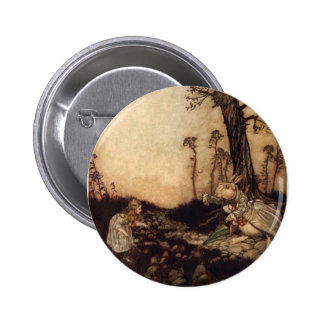 Alice and the Rabbit 6 Cm Round Badge