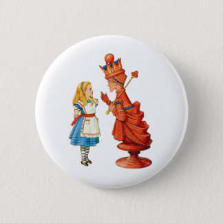 Alice and the Red Queen 6 Cm Round Badge