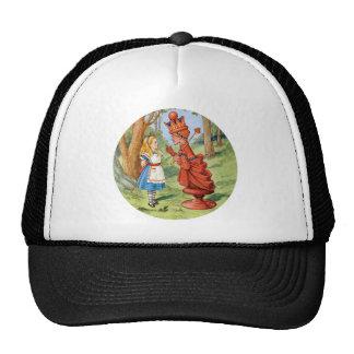 Alice and the Red Queen in Wonderland Trucker Hats