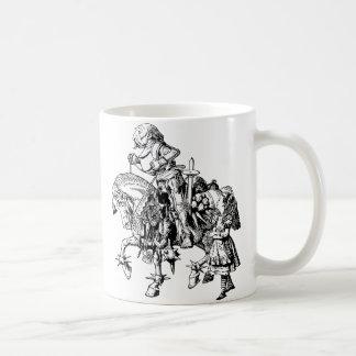 Alice and the White Knight Basic White Mug