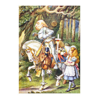 Alice and the White Knight in Wonderland Canvas Print