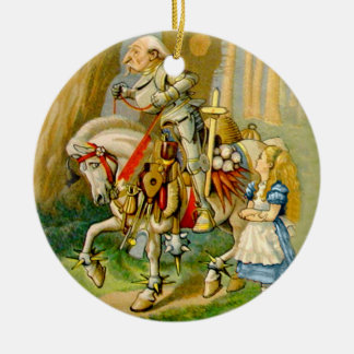 Alice and The White Knight in Wonderland Christmas Ornament