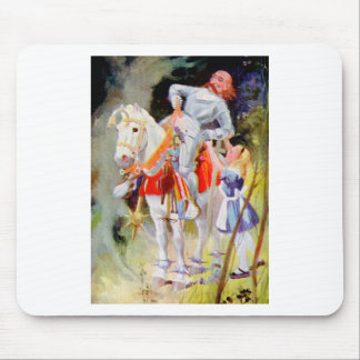 Alice and the White Knight in Wonderland Mouse Pad