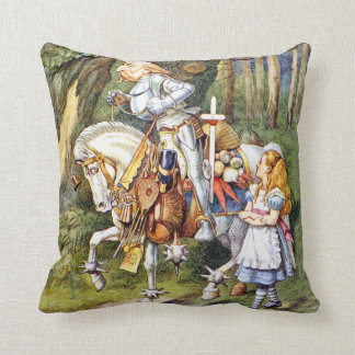 Alice and The White Knight in Wonderland Throw Pillow