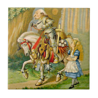Alice and The White Knight in Wonderland Tile