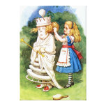 Alice and the White Queen in Wonderland