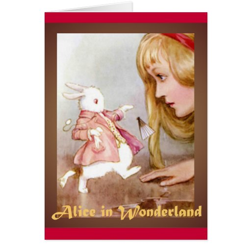 Alice and the White Rabbit Card