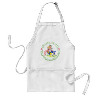 ALICE AND THE WHITE RABBIT - I'M LATE! STANDARD APRON