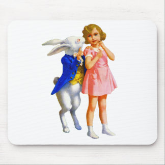 ALICE AND THE WHITE RABBIT MOUSE PAD