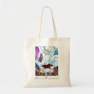 Alice and The White Rabbit Tote Bag