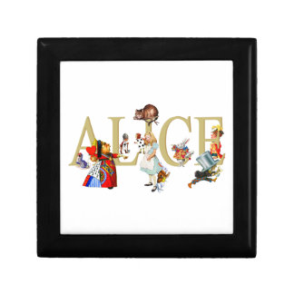 Alice and Wonderland and Friends Small Square Gift Box