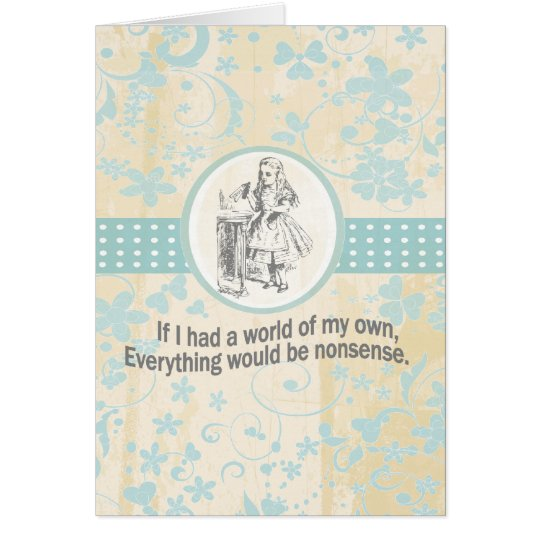 Alice and Wonderland Gifts Card