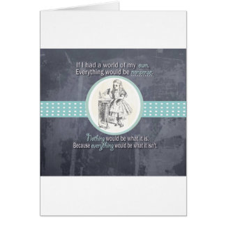 Alice and Wonderland Gifts Greeting Card