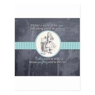 Alice and Wonderland Gifts Postcard