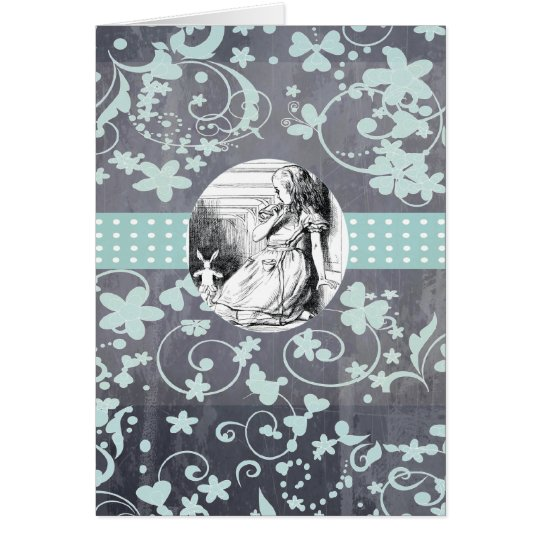 Alice and Wonderland Greeting Card