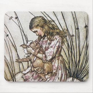 Alice and Wonderland - Pig & Pepper by Rackham Mouse Pad