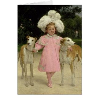 Alice Antoinette de la Mar, aged five Greeting Card