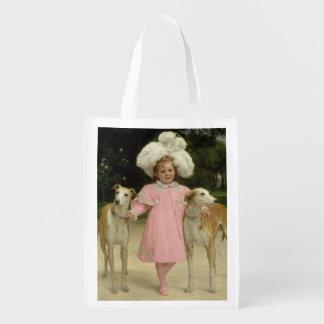 Alice Antoinette de la Mar, aged five Reusable Grocery Bag