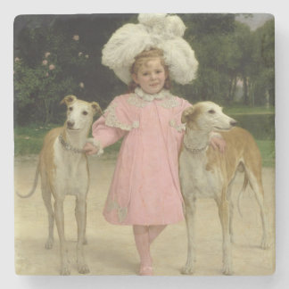 Alice Antoinette de la Mar, aged five Stone Beverage Coaster