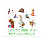 """Alice Asks, """"How Did I End Up In This Crazy Place? Postcard"""