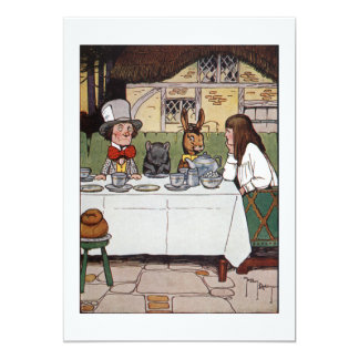 Alice at the Mad Tea Party 13 Cm X 18 Cm Invitation Card