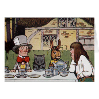 Alice at the Mad Tea Party Card