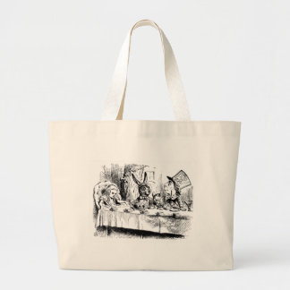 Alice at the Mad Tea Party Large Tote Bag