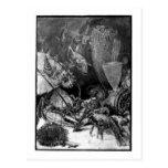 Alice B. Woodward: Cretaceous Period art postcard