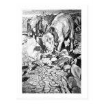 Alice B. Woodward: Dinotherium art postcard