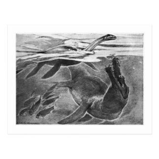 Alice B Woodward Plesiosaurians art postcard